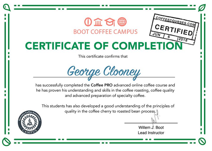 Coffee Pro Coffee Courses
